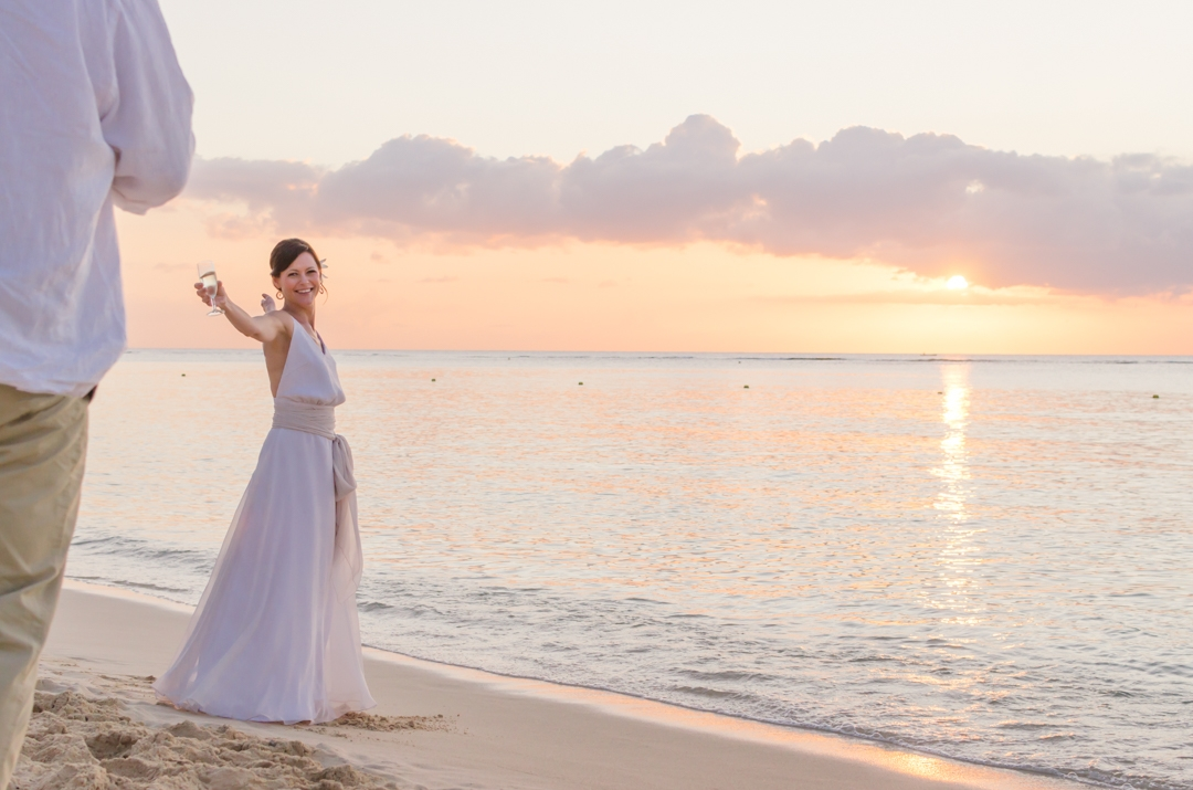 beach wedding in Mauritius